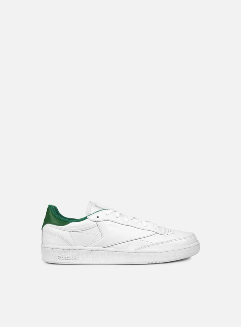sneakers reebok club c 85 el white collegiate green