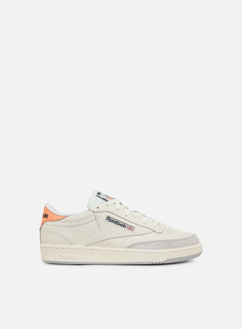sneakers reebok club c 85 ft chalk sunbaked orange grey