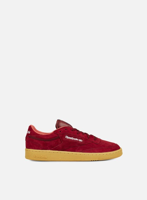 sneakers reebok club c 85 indoor burgundy riot red blue