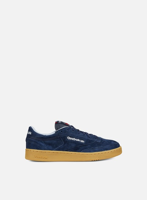 sneakers reebok club c 85 indoor navy cloud grey scarlet