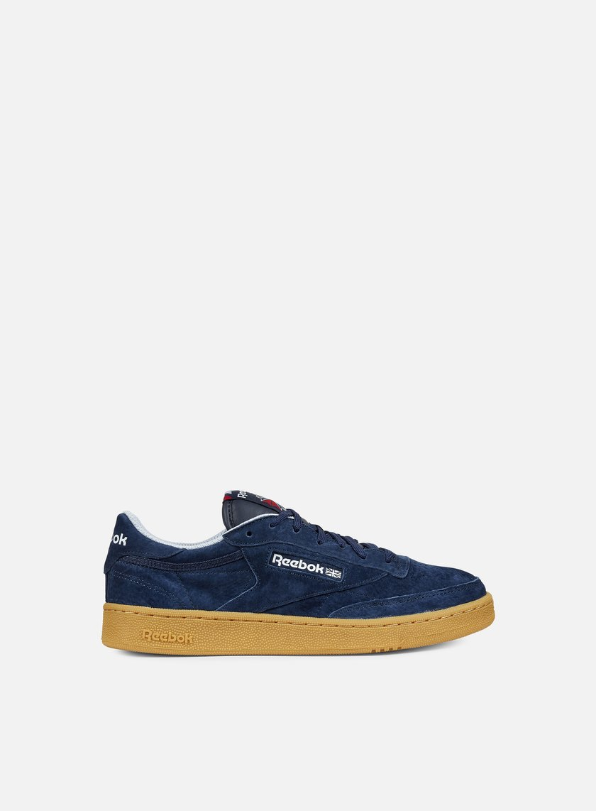 Reebok - Club C 85 Indoor, Navy/Cloud Grey/Scarlet