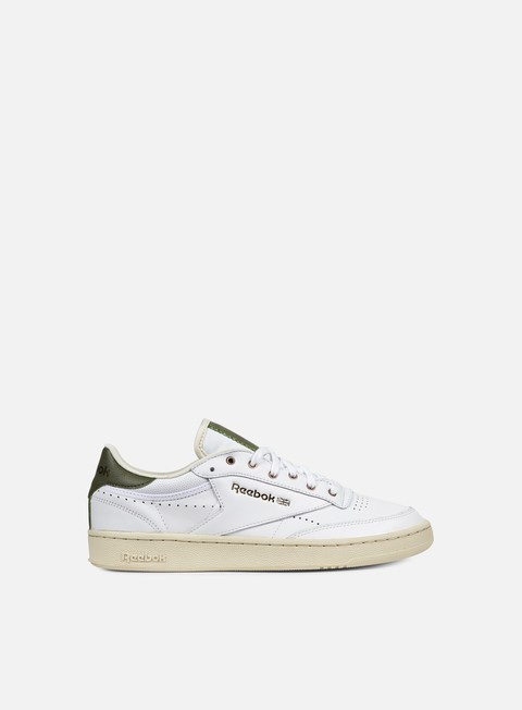 sneakers reebok club c 85 pl white paper white green copper
