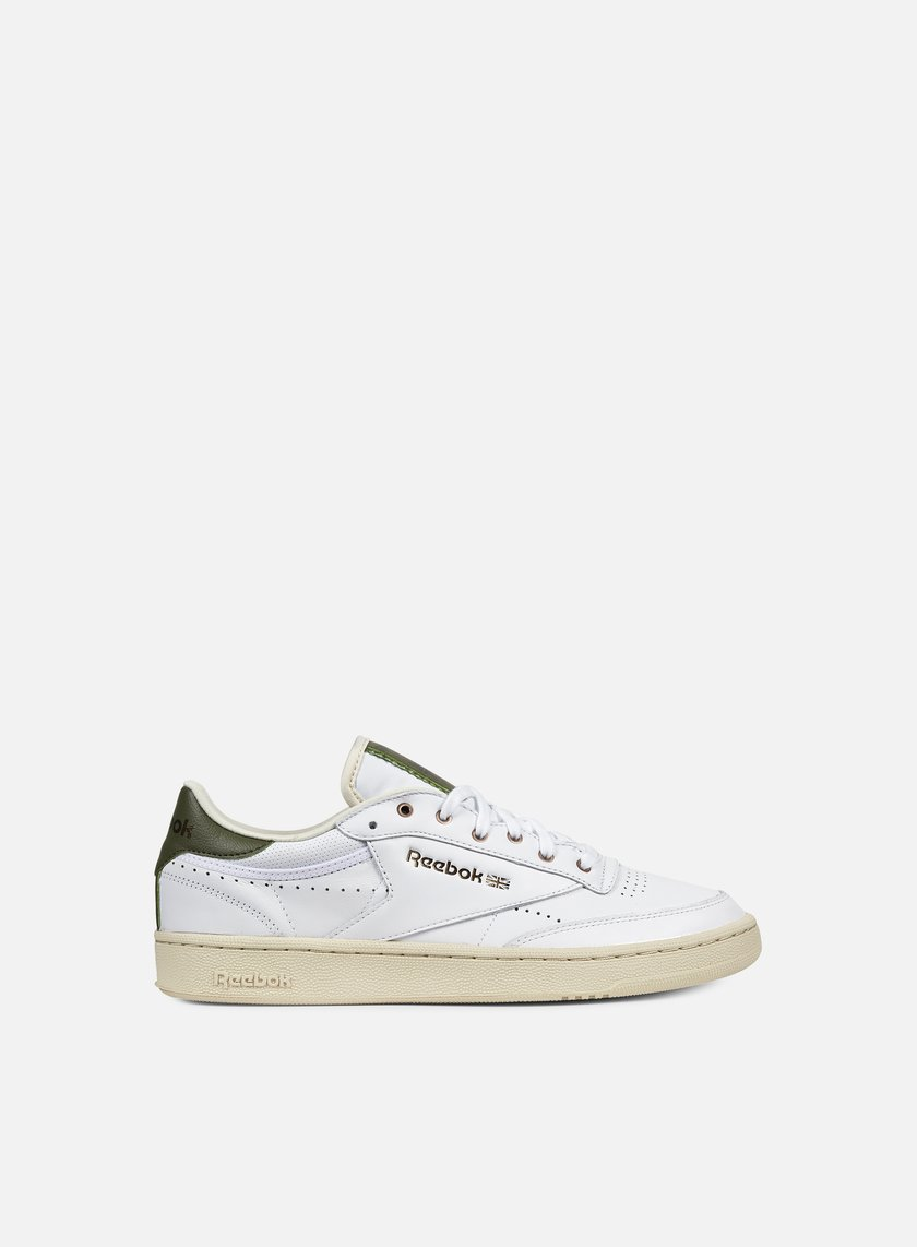 Reebok - Club C 85 PL, White/Paper White/Green/Copper