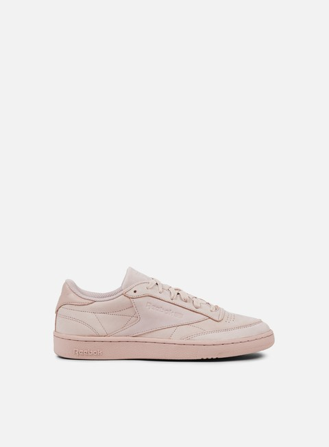 sneakers reebok club c 85 rs shell pink gold metallic