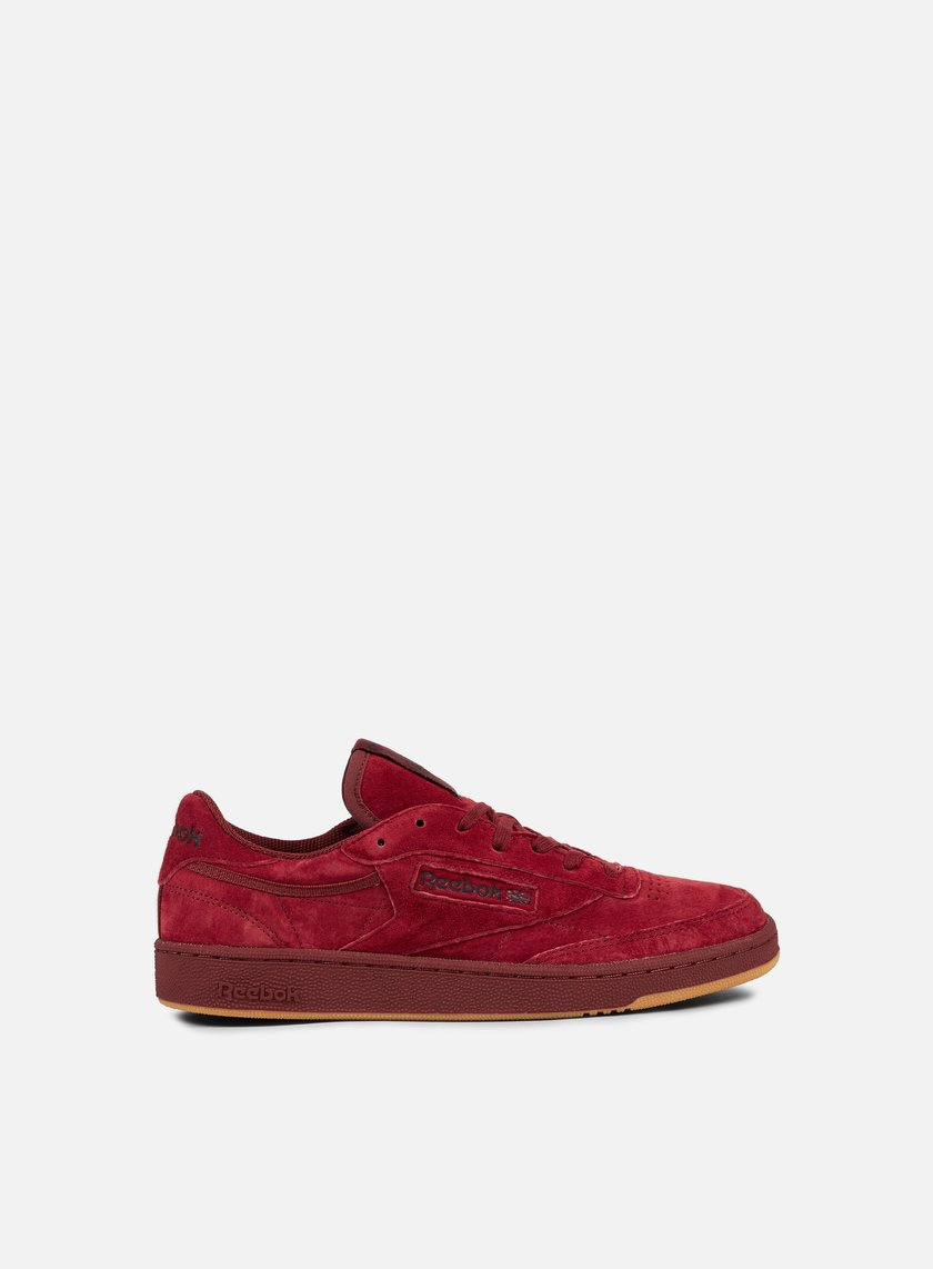 reebok club c 85 tg collegiate burgundy dark red gum. Black Bedroom Furniture Sets. Home Design Ideas