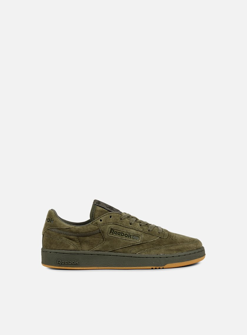 reebok club c 85 tg hunter green poplar green gum 62. Black Bedroom Furniture Sets. Home Design Ideas