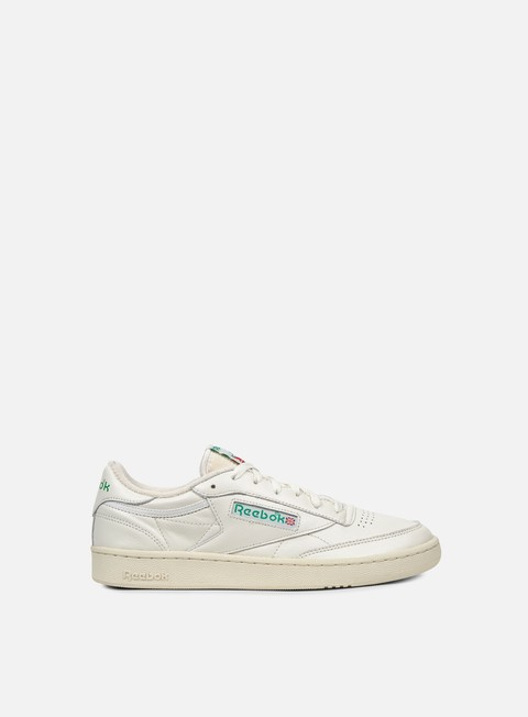 sneakers reebok club c 85 vintage chalk paper white glen green