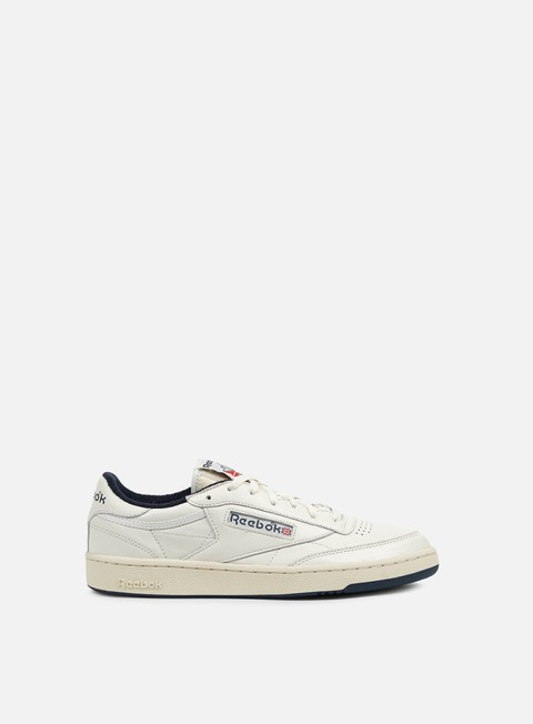sneakers reebok club c 85 vintage chalk paper white navy