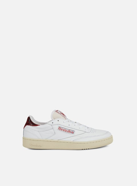 sneakers reebok club c 85 vs white canyon red paperwhite