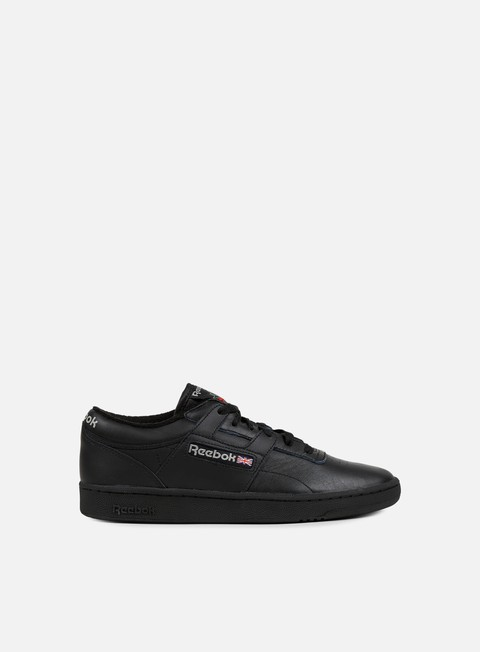 sneakers reebok club workout black carbon red