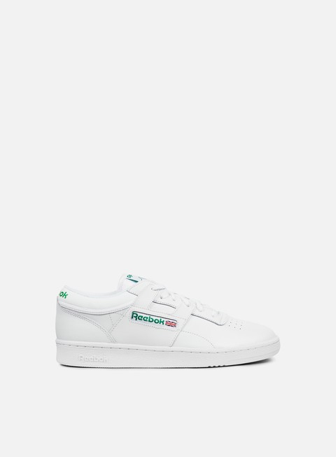 sneakers reebok club workout white glen green red