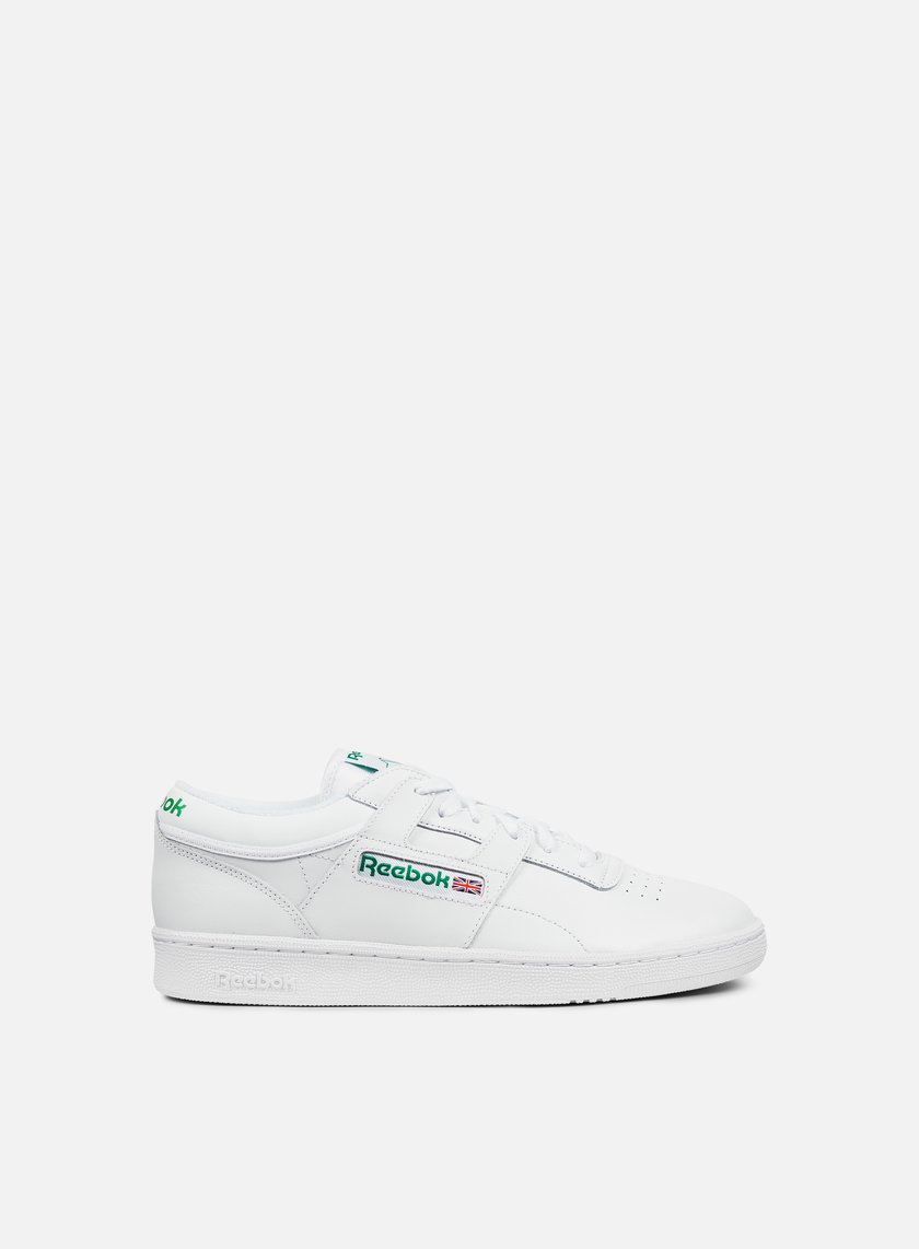 Reebok - Club Workout, White/Glen Green/Red
