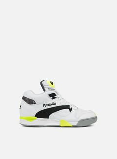 Reebok - Court Victory Pump, White/Black/Solar Yellow