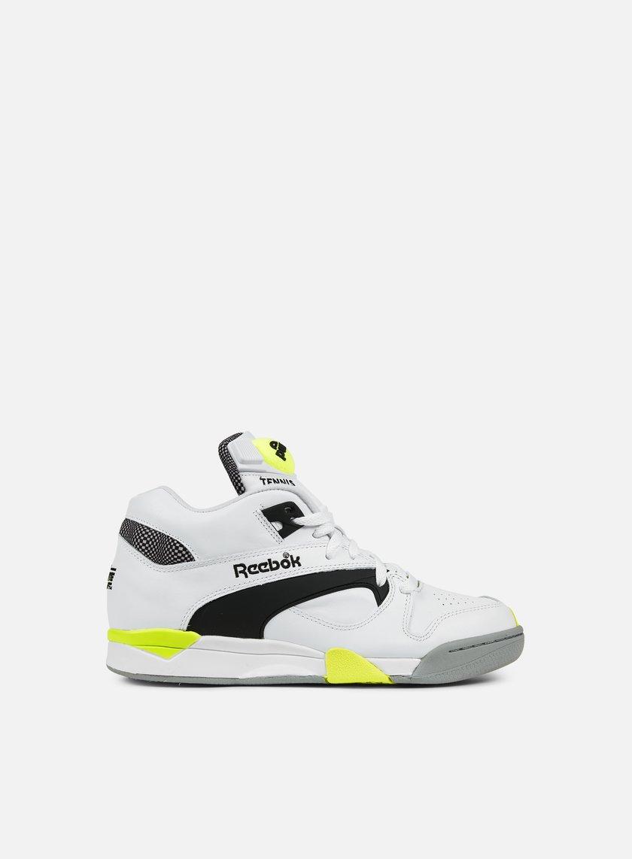 Reebok - Court Victory Pump, White/Black/Solar Yellow