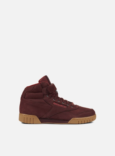 sneakers reebok ex o fit plus hi lg burnt sienna maroon