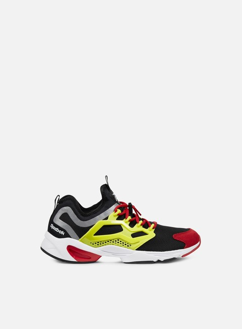 sneakers reebok fury adapt black hyper green red white