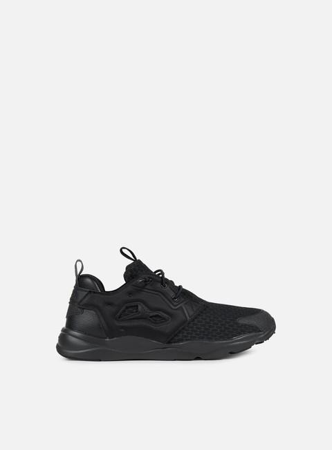 sneakers reebok furylite black black white