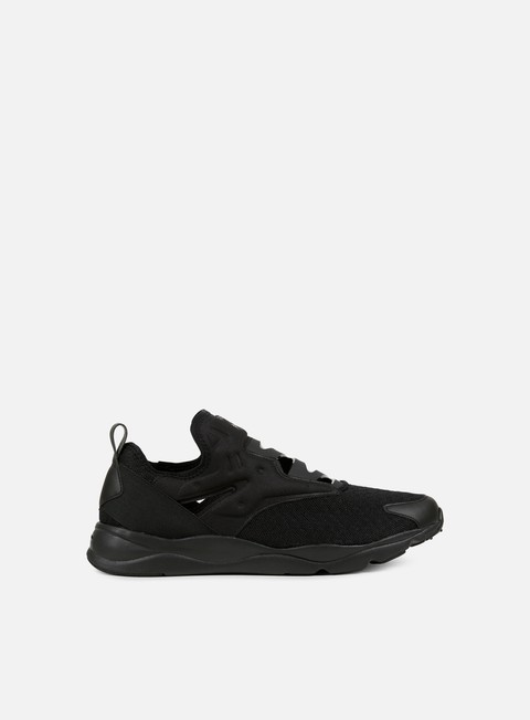 sneakers reebok furylite slip on emb black white