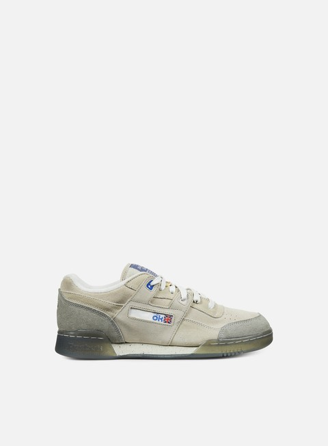 sneakers reebok garbstore workout lo plus off white cleat grey