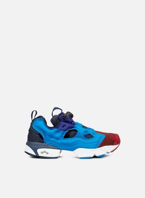 sneakers reebok instapump fury asym burgundy blue sport