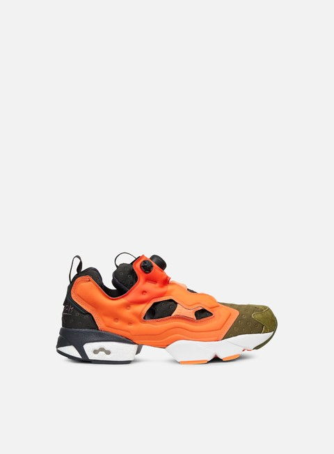 sneakers reebok instapump fury asym canopy green peach red