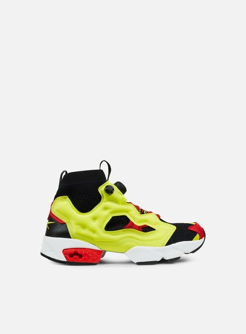 sneakers reebok instapump fury og ultraknit black hyper green reebok red