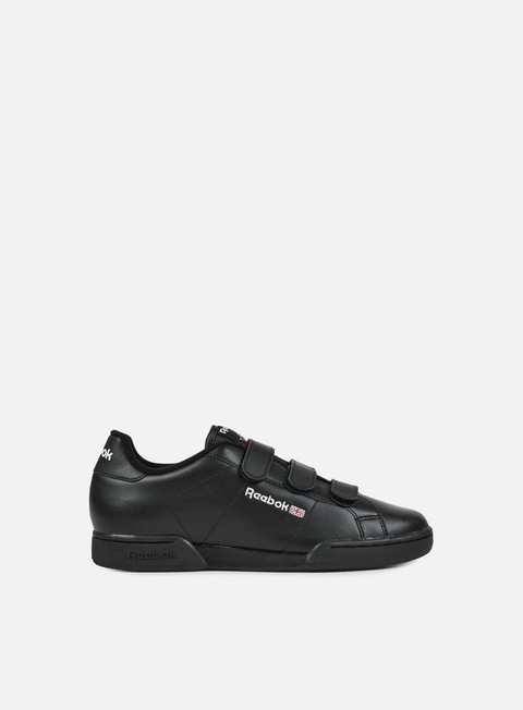 sneakers reebok npc straps black white excellent red