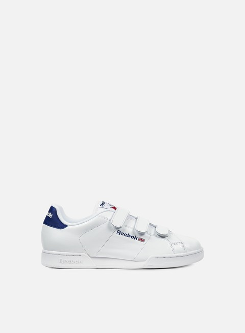 sneakers reebok npc straps white royal red