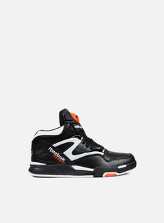 Reebok - Pump Omni Lite, Black/White/Varsity Orange 1