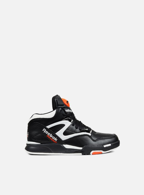 sneakers reebok pump omni lite black white varsity orange