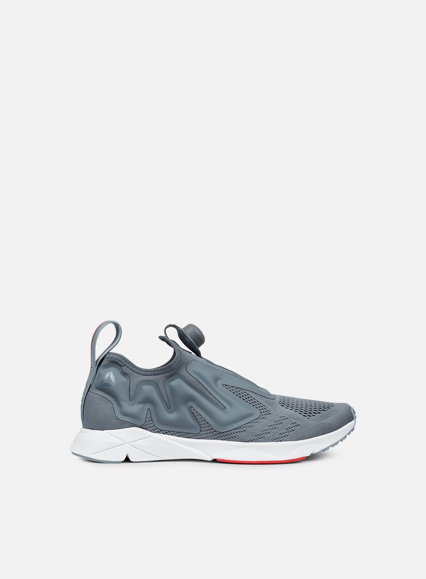 reebok pump supreme engine dust grey red white 53 70. Black Bedroom Furniture Sets. Home Design Ideas