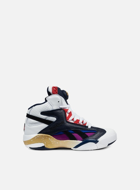 sneakers reebok shaq attaq white navy scarlet black