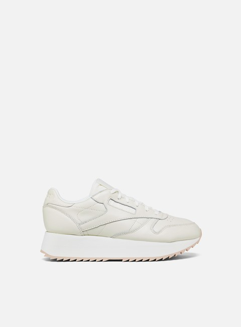 sneakers reebok wmns classic leather double chalk bare beige