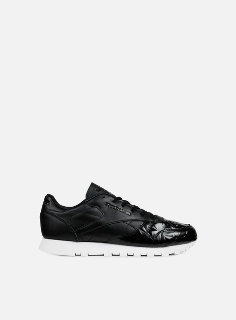 sneakers reebok wmns classic leather hype metallic black white