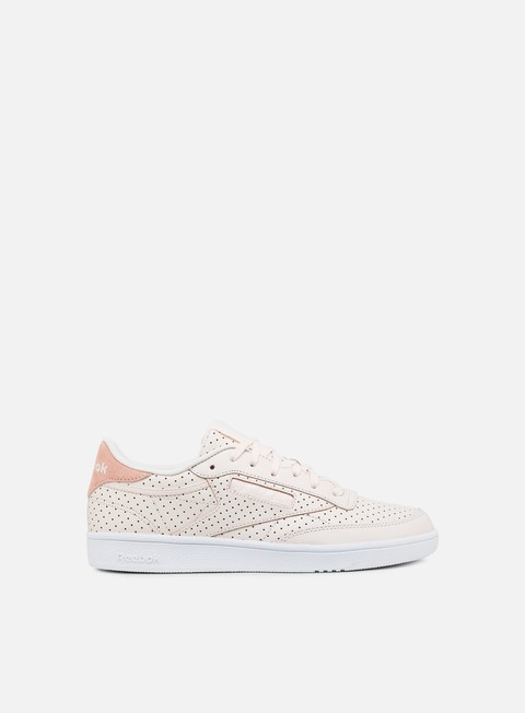 sneakers reebok wmns club c 85 popped perf pale pink chalk pink white