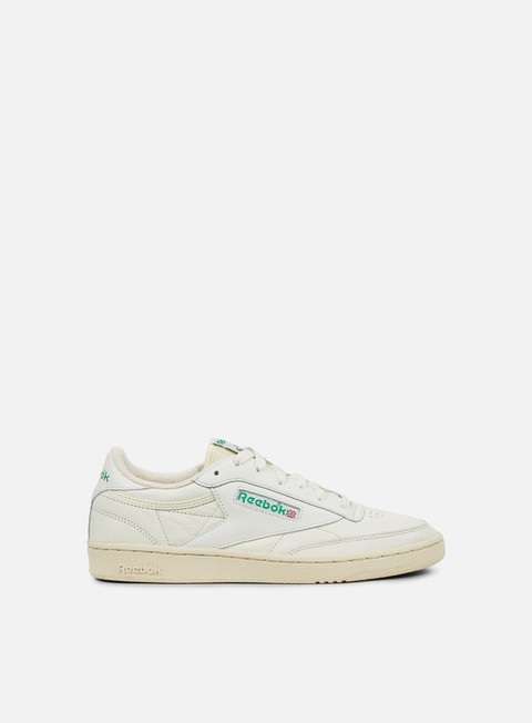 sneakers reebok wmns club c 85 vintage chalk green white red