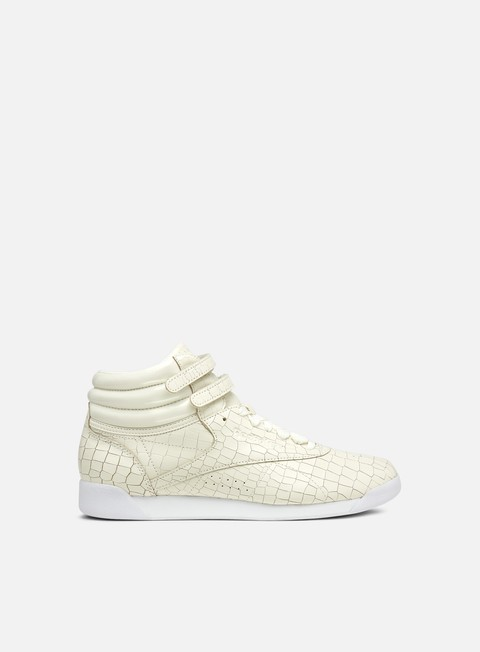 sneakers reebok wmns freestyle hi crackle chalk white