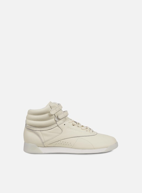 sneakers reebok wmns freestyle hi face stockholm peace wisdom milky white