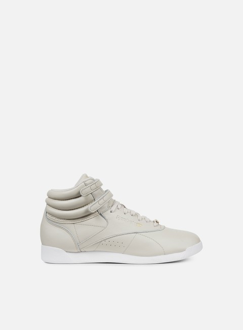 sneakers reebok wmns freestyle hi muted sandstone white
