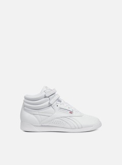 Reebok - WMNS Freestyle Hi OG Lux, White/Grey/Gold/Excellent Red