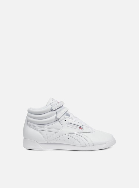 sneakers reebok wmns freestyle hi og lux white grey gold excellent red
