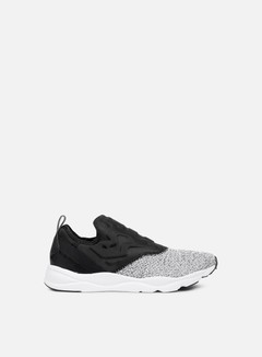 Reebok - WMNS Furylite Slip-On, Black/White 1