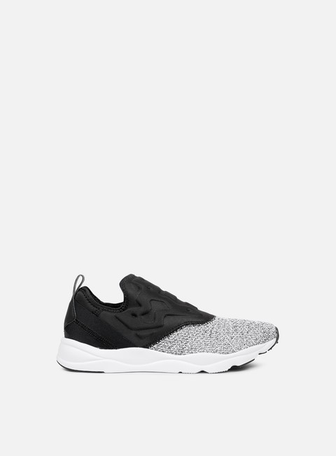 sneakers reebok wmns furylite slip on black white