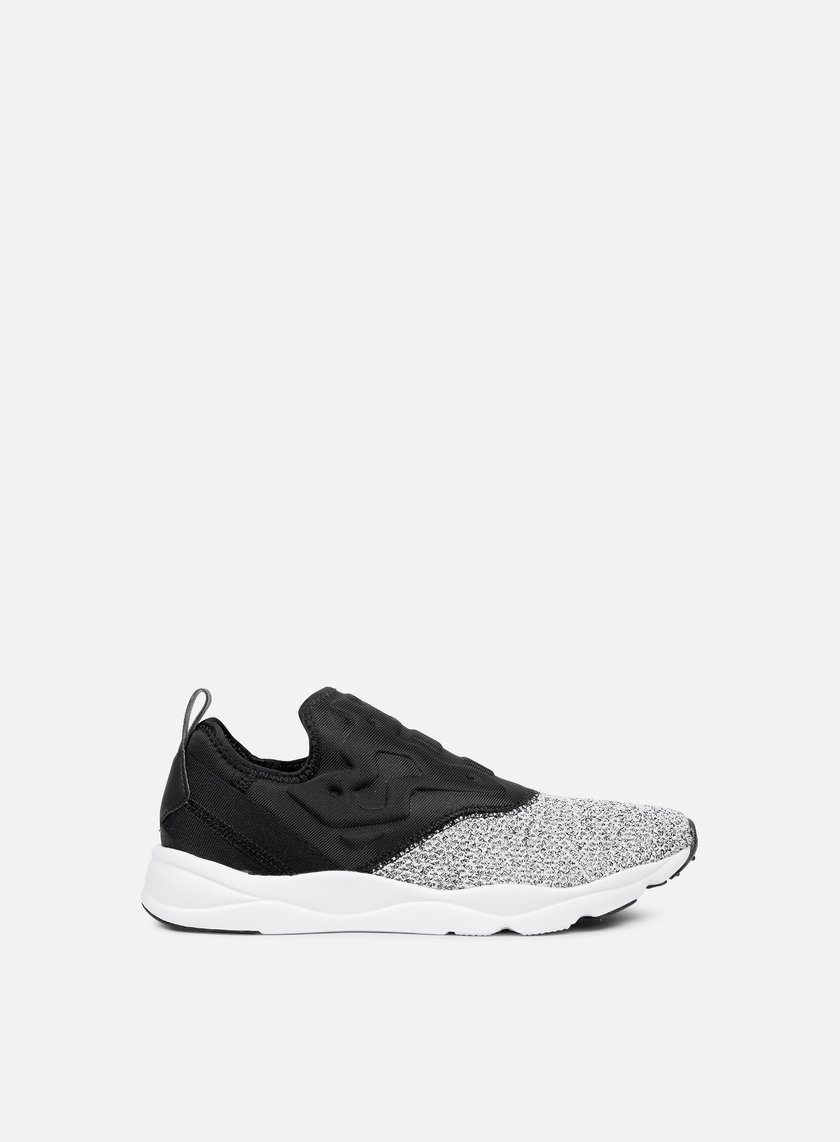 Reebok - WMNS Furylite Slip-On, Black/White