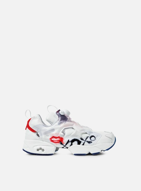 sneakers reebok wmns instapump fury celebrate white red blue pink silver