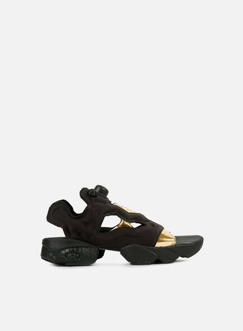 sneakers reebok wmns instapump fury sandal mag black gold metal white