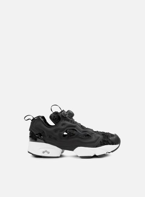 sneakers reebok wmns instapump fury sc black white gold metallic