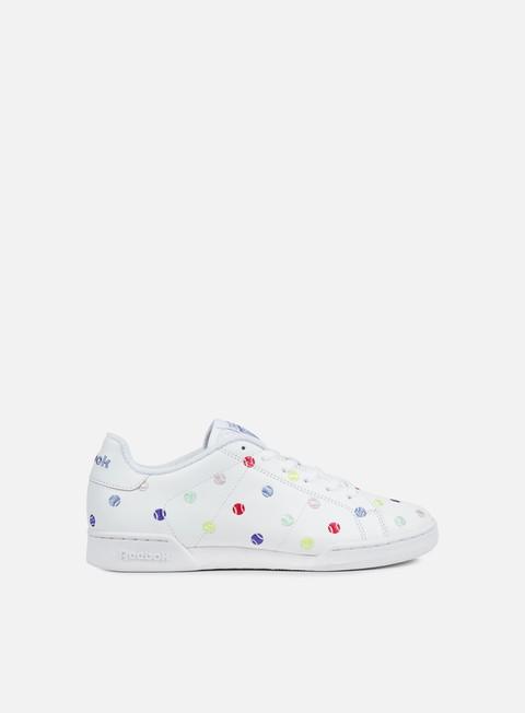 sneakers reebok wmns npc ii ne eh white lilac blue
