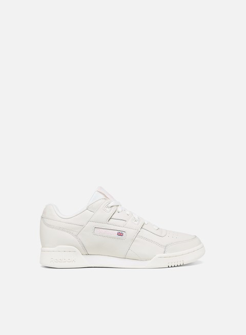 sneakers reebok wmns workout lo plus white practical pink