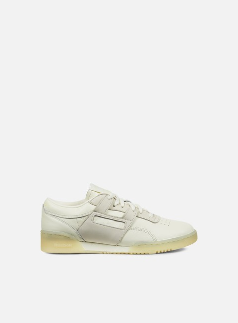 sneakers reebok workout lo clean bs creme washed yellow